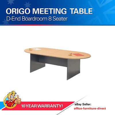 Meeting Office Table D End, Boardroom, Conference Tables Beech & Ironstone