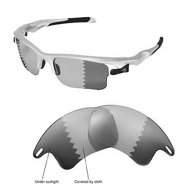 19f4a28d3f290 New Walleva Polarized Transition Photochromic Lenses For Oakley Fast Jacket  XL