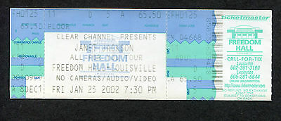2002 Janet Jackson unused full concert ticket All For You Tour Louisville
