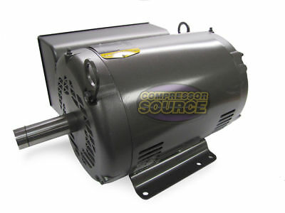 10 HP Single Phase Baldor Electric Compressor Motor 1725 RPM 215T Frame 230 Volt