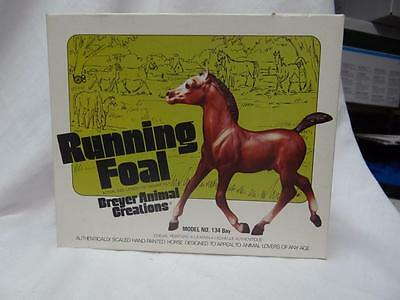 Vintage 1970's BREYER MODEL 134 RUNNING FOAL In Original Box