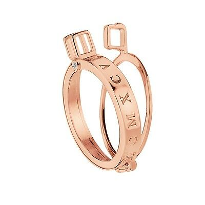 Emozioni Keeper Rose Gold Plated Sterling Silver Coin Holder Capri DP485 - 25mm