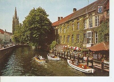 Postal (PostCard) 040140 : Brugge. Dijver and the tower of the church of Our...