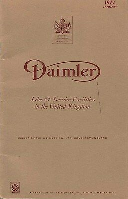 Daimler UK Dealer Sales and Service Facilities in the UK 1972 unillustrated