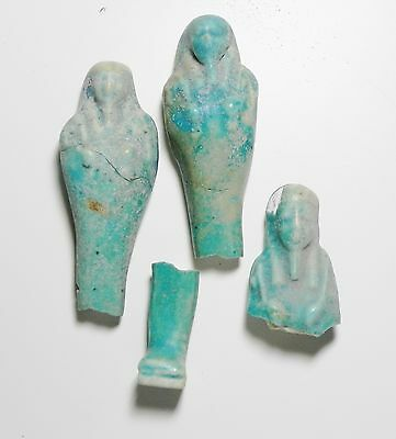 Zurqieh - Ancient Egypt . Lot Of 4  Ushabti Fragments , 600 - 300 B.c