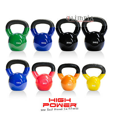 HIGH POWER - KETTLEBELL Professionale in Ghisa con Rivestimento da 4 a 25Kg