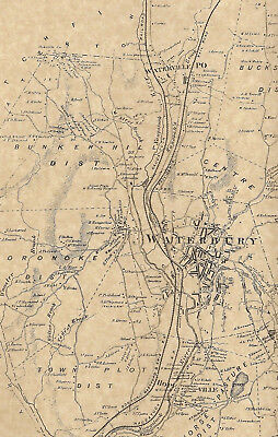 Waterbury Waterville Hopeville CT 1868  Maps with Homeowners Names Shown