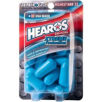 Hearos Ear Plugs Xtreme Protection For Sleeping Studying Traveling - 14 Pairs