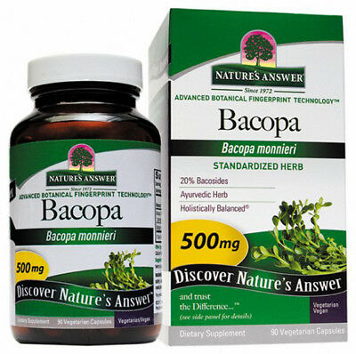 NATURES ANSWER -  Bacopa Standardized 500 mg - 90 Vegetarian Capsules