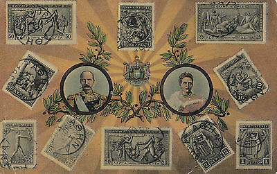Postcard of 1906 Olympic Games stamp issue 1912 Greece to Brisbane Australia