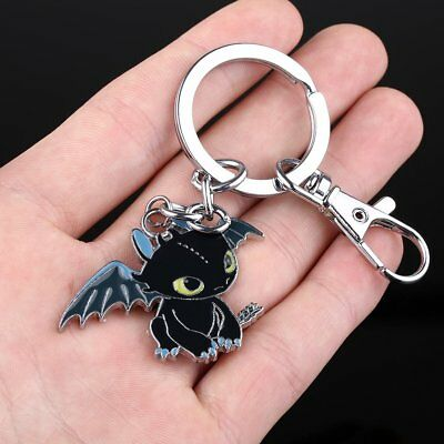 "1 x Night Fury Toothless Pet 1.4"" Pendant Keychain from How to Train Your Dragon"