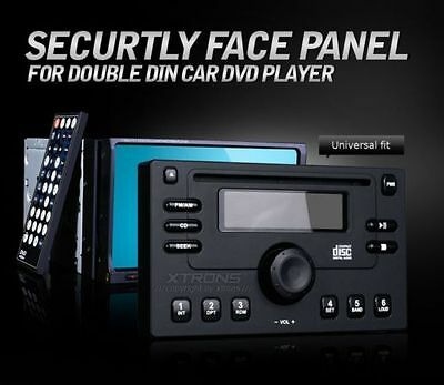 XTRONS Face Panel Dummy Cover for 2 Double DIN Car Stereo Radio GPS DVD Player