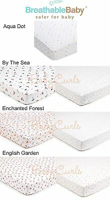 BreathableBaby Super Dry Cot Bed Sheet (2 Pack) - Cot Bed Baby Fitted Sheets