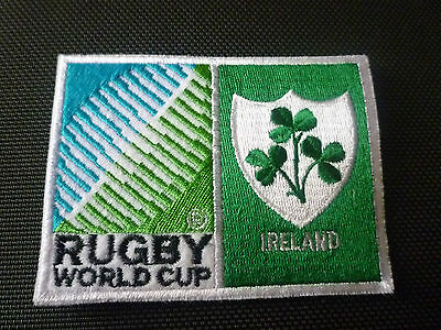 New Rugby World Cup 2015 Badge - Sew on Patch - Ireland 10cm x 7.5cm