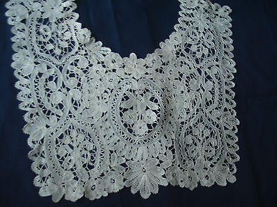 Vintage Handmade Bobbin Lace Antique Layover Collar Brussels Duchesse or Honiton