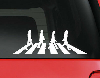 Abbey Road The Beatles NEW COLORS cut vinyl window/bumper stickers
