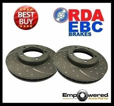 DIMPLED SLOTTED FRONT DISC BRAKE ROTORS for Mitsubishi Triton ME 4WD 1986-96
