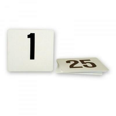 Table Numbers, Ranged 1-25, Black on White, Plastic, 105 x 95mm (Larger)