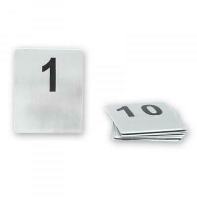 Table Number Set, Set of 1-10, Stainless Steel, 80 x 100mm, Cafe / Restaurant