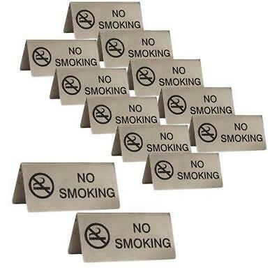 12x No Smoking Sign, A Frame, Stainless Steel 100x43mm, Cafe / Bistro Table Sign