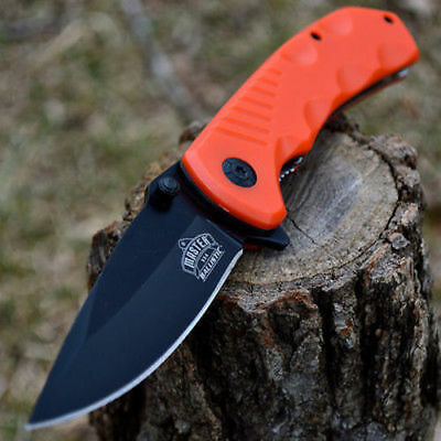 "8"" SPRING ASSISTED OPEN Blade Tactical FOLDING POCKET KNIFE Rescue Switch"