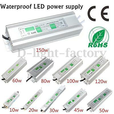 20-150W Waterproof DC 12V LED Driver Transformer Power Supply Adapter for Strip