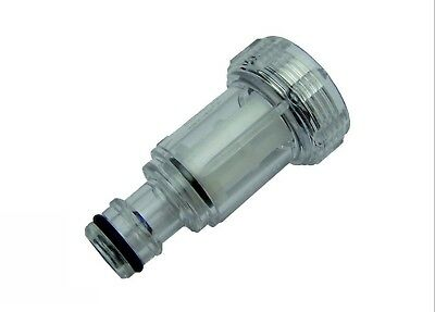 """Clear Heavy Duty Plastic Pressure Washer inlet Filter 3/4""""F Hozelock Compatible"""