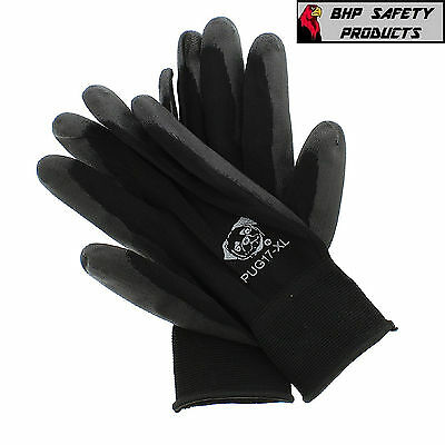Global Glove Pug Polyurethane Coated Nylon Gloves 12 Pair Extra-Large (Pug17-Xl)