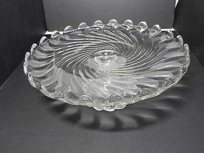 "Fostoria Colony Cake Stand Clear Crystal 12"" D ca 1940-1973"