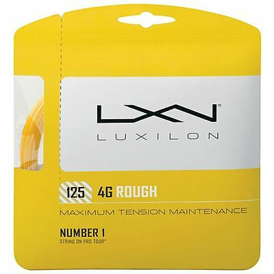 Luxilon 4G Rough 1.25mm (gold) 12.2m pkt tennis string