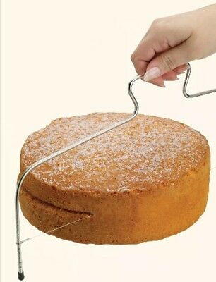 KitchenCraft Large Cake Layer Slicer, Cutting & Levelling Wire