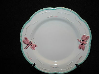 essex collection butterfly pond collection dinner plate green trim