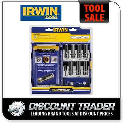 Irwin 8 Piece Deep Well Impact Bolt-Grip® Pro Set - Screw Bolt Extractor 1859149