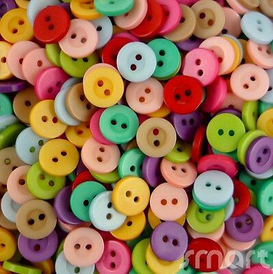 80pcs Bulk Mixed Round Resin Button Lots Sewing Craft 10MM Cards Craft Embellish