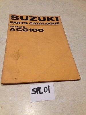 Suzuki supplément parts list ACC100 ACC 100 édition 1970 for UK market