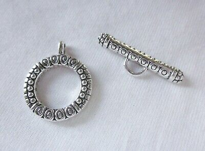 2 Large Silver Coloured Toggle Clasps 28x22mm #2469 Combine Post-See Listing