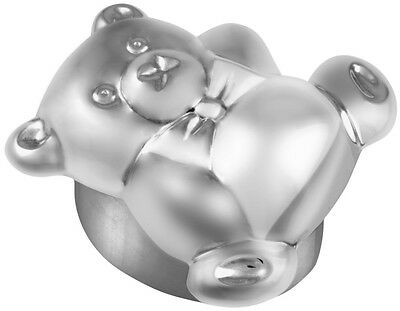 Ari D Norman Sterling Silver Teddy Pill Box / First Tooth Gift Boxed Uk Hallmark