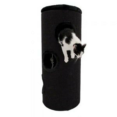 Cat Tree - Diogenes XXL Scratching Barrel -Black: 100cm (H), diameter 45cm