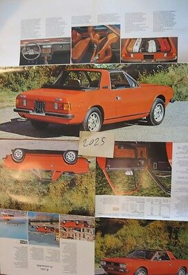 N°2025 / dépliant poster LANCIA BETA Spider  1976