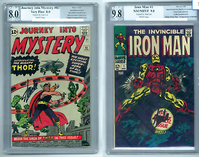 Journey Into Mystery #83 Iron Man #1 STAN LEE PGX Signed Silver Age Marvel LOT
