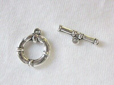 5 Silver Tone Toggle Clasps 16x8mm #2476