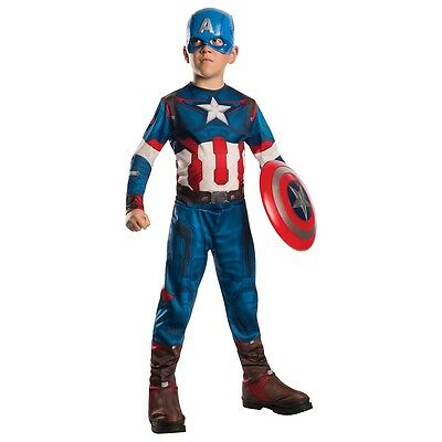Captain America Costume Kids Avengers Superhero Halloween Fancy Dress