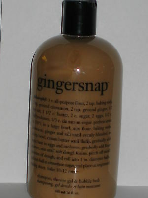 philosophy gingersnap  shower gel  16oz