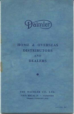 Daimler Home and Overseas Distributors and Dealers 1963