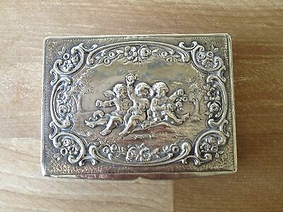 Lovely 19th c. 800 Silver Rococo Chased Box, probably German