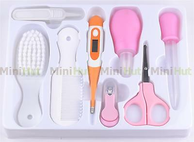8 piece Baby Infant Health Care Thermometer Grooming Manicure Nuring Set