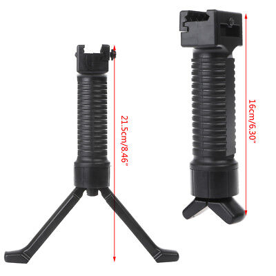 Tactical Retractable Foregrip Bipod Insert Legs Side Rail For Picatinny Weaver