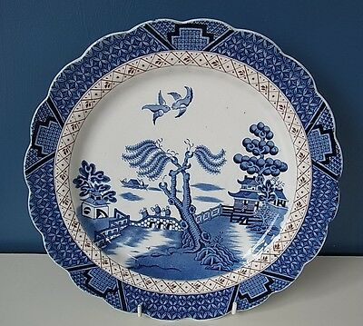 "BOOTHS ""REAL OLD WILLOW"" SCALLOPED EDGE - NO TRIM -  DINNER PLATE - 10 5/8"", VGC"