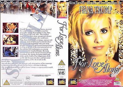 For Love Alone, Ivana Trump Video Promo Sample Sleeve/Cover #14626