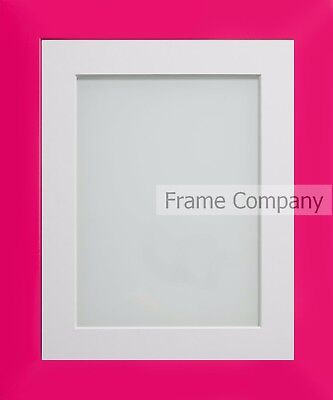 Frame Company Candy Range Hot Pink Picture Photo Frames with Choice of Mounts